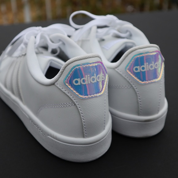 adidas superstar holographic white